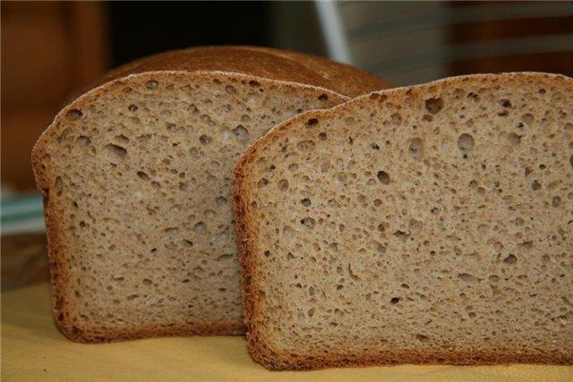 Хлеб на кислом молоке в хлебопечке